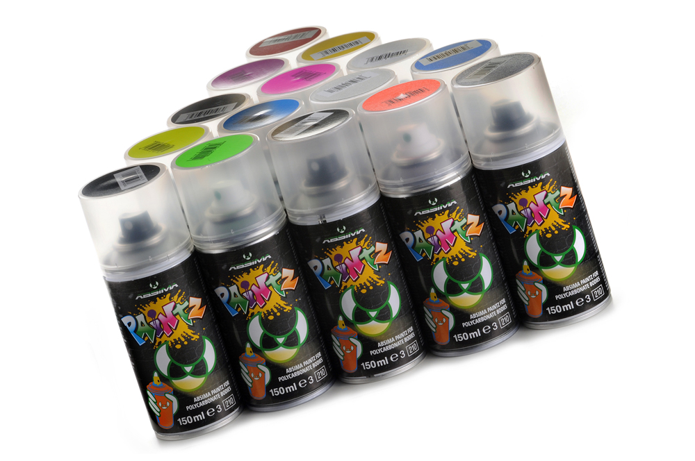 "Polycarbonat Spray ""PAINTZ FLUO ROT"" 150ml - Bild 1"