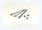 Aluminium screw set 3xshort, 3xlong